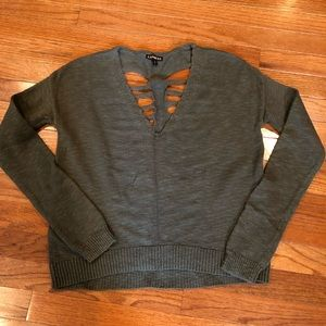 Express Slash Back Sweater